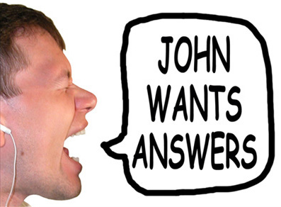 John Wants Answers title